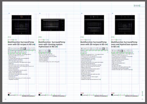 generados por EasyCatalog. El color verde indica que la información que muestra el documento es la misma que existe en el origen de datos.
